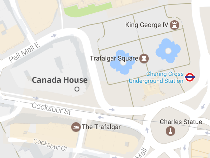 Google Maps image of Canada House location