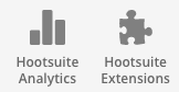 Hootsuite Analytics and Extensions Icons