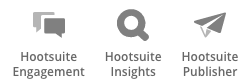 Hootsuite Engagement, Insights and Publisher Products Icons