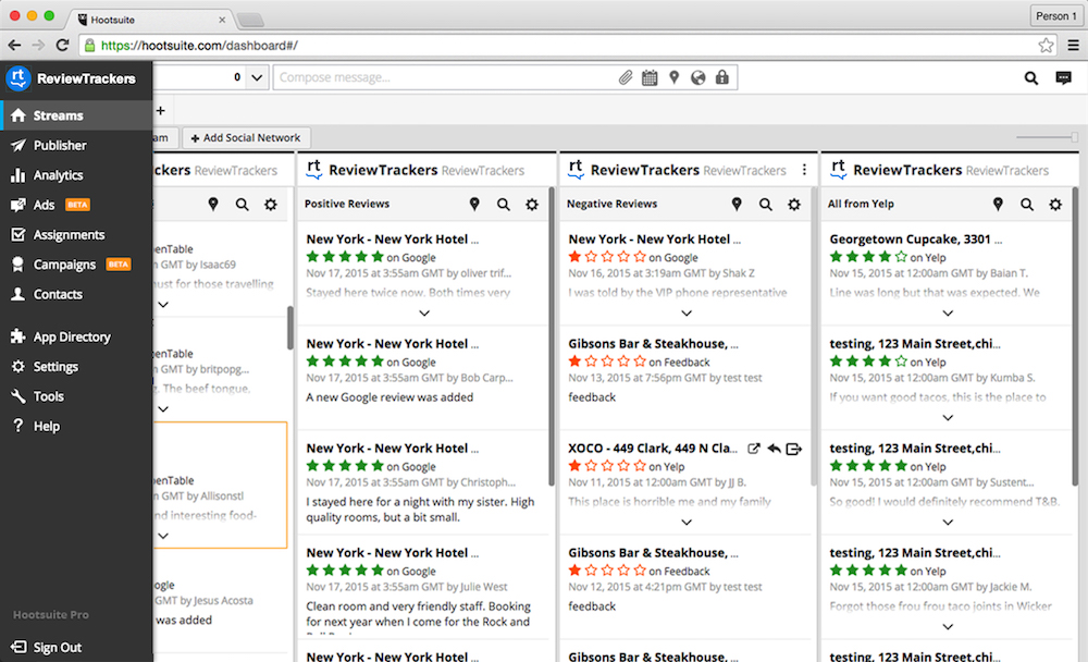 Review Tracker Hootsuite Hero R1