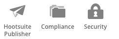Hootsuite Publisher, Compliance and Security Icons