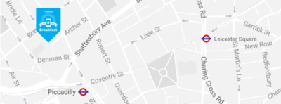 Google map data of Ham Yard Hotel, London