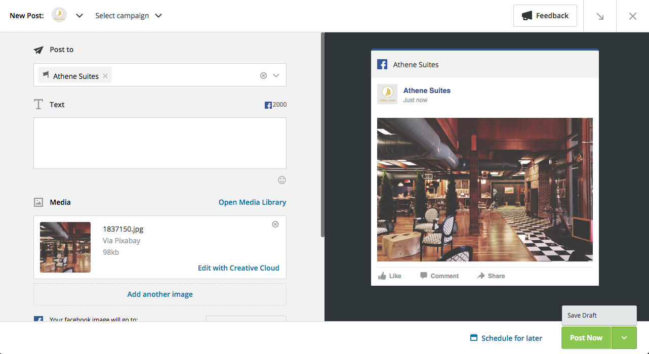 how to find saved drafts on facebook