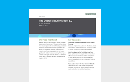 Image for Forrester: The Digital Maturity Model 5.0